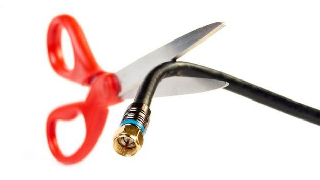 cortar el cable