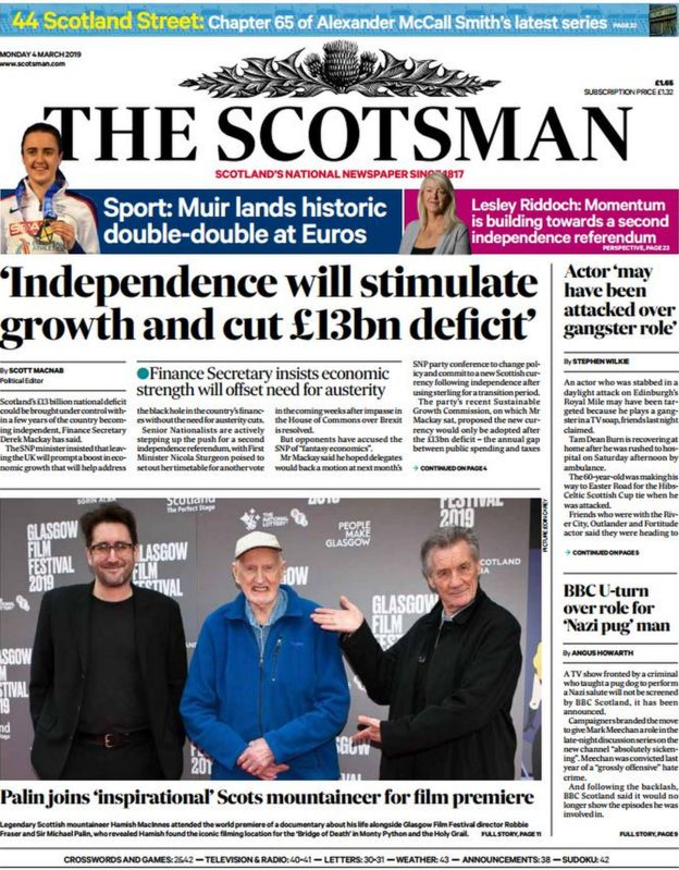Scotland's papers: 'Toxic' River Clyde and Brexit 'bribery