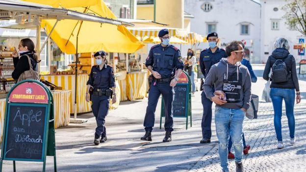 Mercado en Austria.