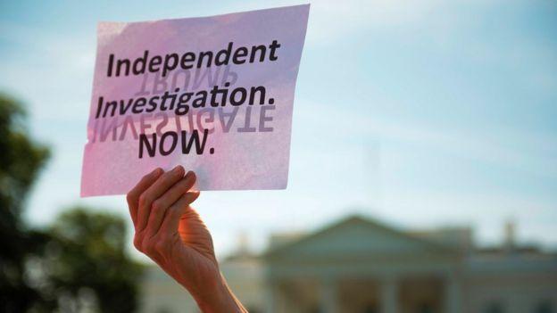 Protesta frente a la Casa Blanca