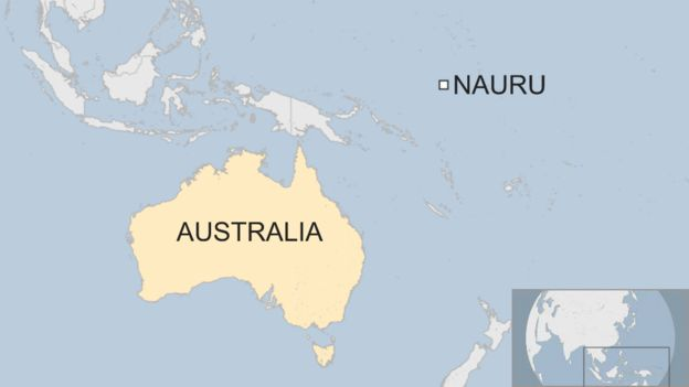 Nauru migrants: Last four children to leave island for US ... on tuvalu map, east timor map, saint kitts and nevis map, libya map, mauritius map, kiribati map, monaco map, liechtenstein map, morocco map, wake island map, new caledonia map, rwanda map, liberia map, algeria map, mauritania map, mozambique map, papua nueva guinea map, kenya map, congo map, senegal map, zimbabwe map, malawi map, new zealand map, sudan map, madagascar map, the marshall islands map, niue map, ghana map, mali map, namibia map, burundi map, saint pierre and miquelon map, tunisia map, angola map, niger map, timor-leste map, solomon islands map, cook islands map, netherlands map, oceania map,