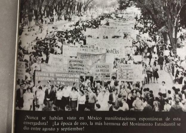 Manifestaciones de estudiantes.