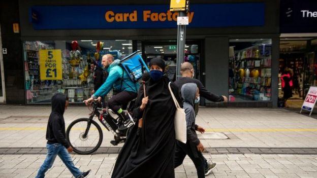 People in Birmingham city centre