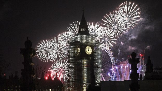 Fireworks in London