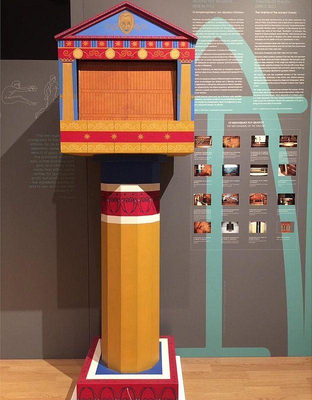 El teatro automático de Herón de Alejandría. (Foto cortesía del Museo Kotsanas).