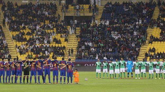 al Ahli Saudi FC y el FC barcelona.
