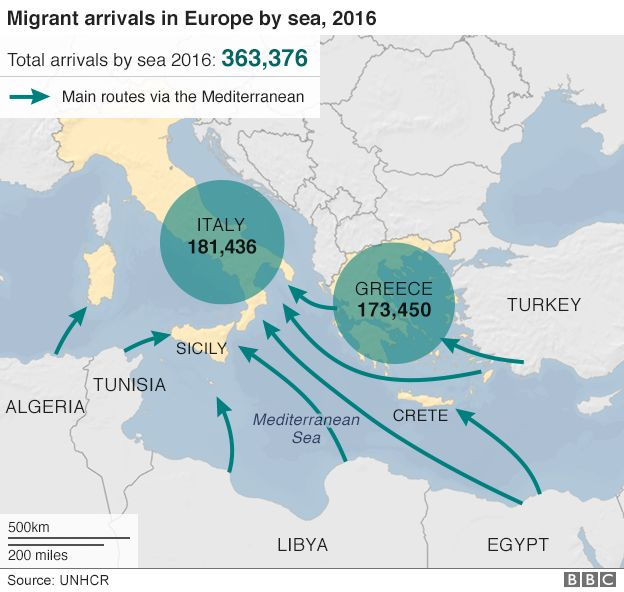 Migrant crisis eu leaders agree plan to stop libya influx bbc news map publicscrutiny Gallery
