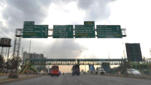 Road signs in Kenya