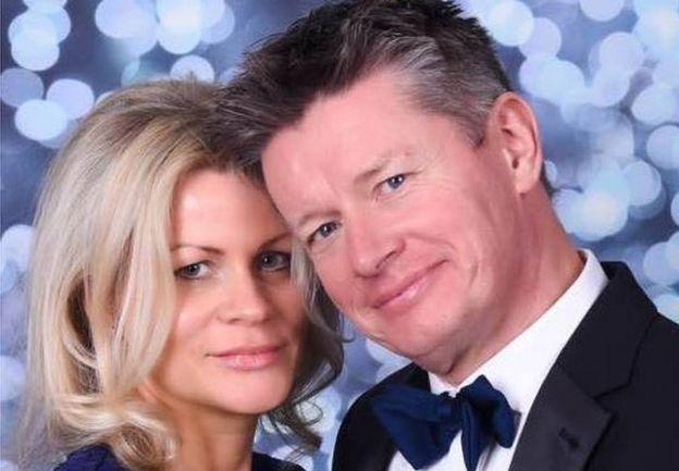 Richard Mason y su actual esposa