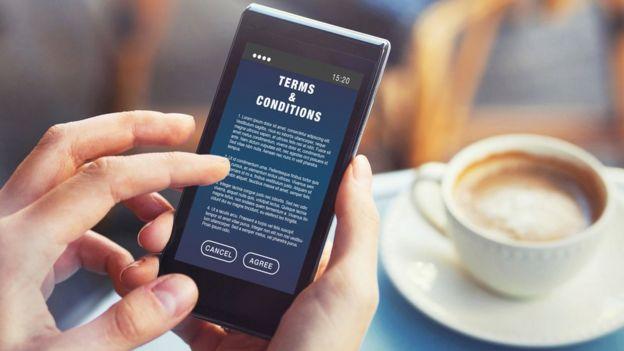 Condiciones y términos de una web