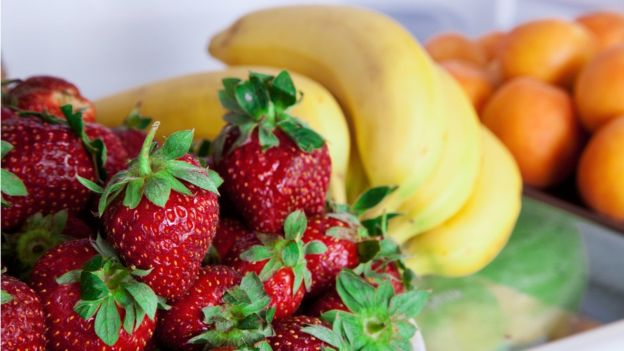 Fresh fruit in a fridge