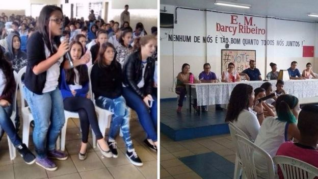 Estudantes falam nas assembleias da Darcy Ribeiro