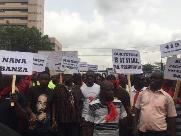 Des manifestants au Ghana