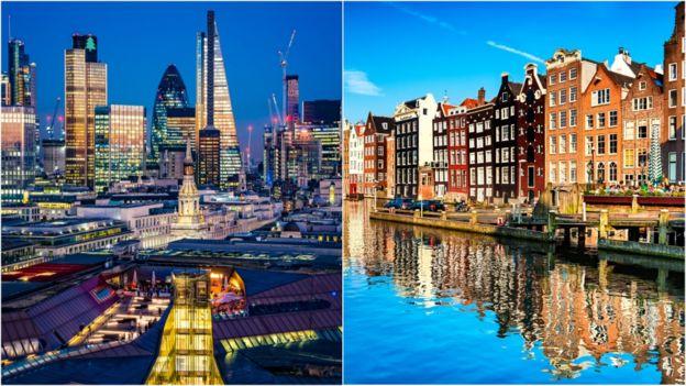 Londres y Ámsterdam