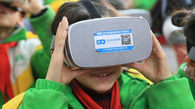 Virtual reality in a Chinese primary school