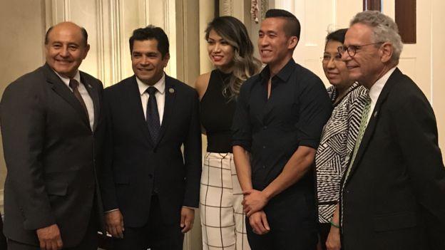 Will Nguyễn trong buổi gặp gỡ với các vị dân cử Hoa Kỳ sau khi trở về Mỹ