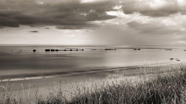 诺曼底,盟军在阿罗芒什(Arromanches)修建的人工港
