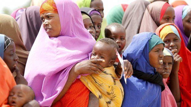 Somali refugees at the Ifo camp in Dadaab near the Kenya-Somalia border
