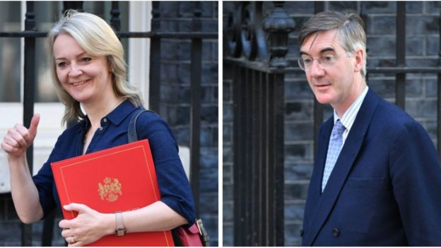 Liz Truss and Jacob Rees-Mogg