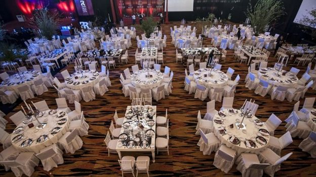 Rosario's Hotel CityCenter set up for a previous event
