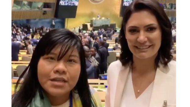 Ysani e Michelle Bolsonaro