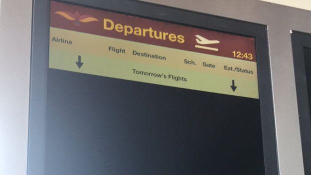 Bản thông báo chuyến bay tại sân bay Mattala Rajapaksa