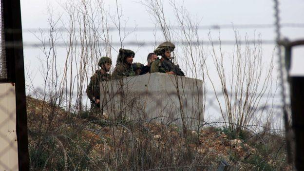Puesto de observación militar israelí en la frontera con Líbano