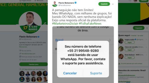 Tuíte de Flavio Bolsonaro