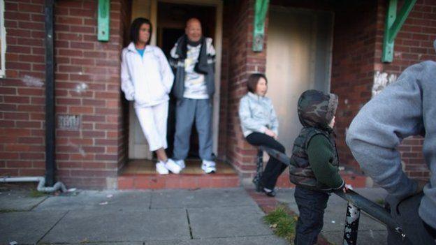 Family in Salford