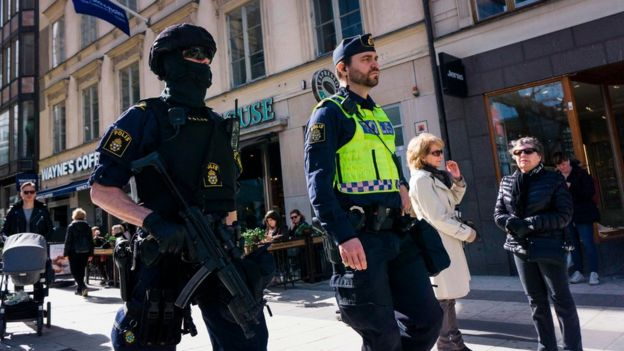 Police officers in Stockholm