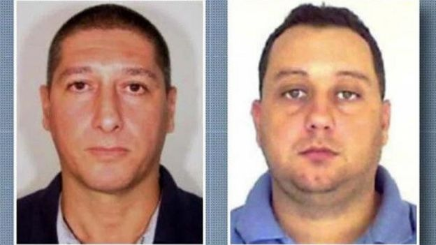 Retrato do policial militar reformado Ronnie Lessa e do ex-policial militar Elcio Vieira de Queiroz
