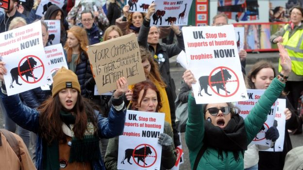 Protest against trophy hunting