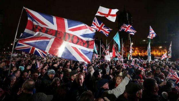 Una celebración por el Brexit en Londres