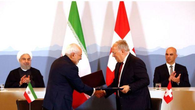 Autoridades iraníes en Suiza