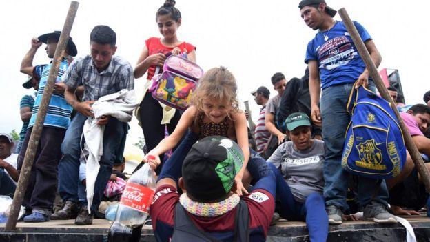 караван мигрантов в Гватемале