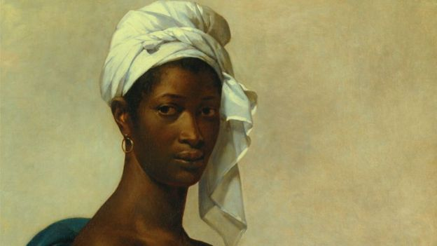 Section of Portrait of a Negress now renamed Portrait of Madeleine