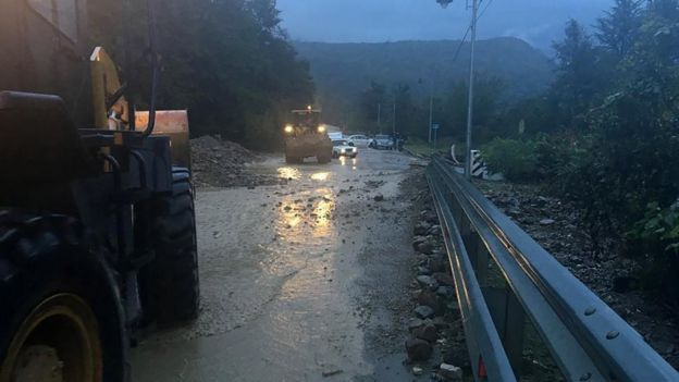 В Краснодарском крае после сильных ливней затопило несколько населенных пунктов