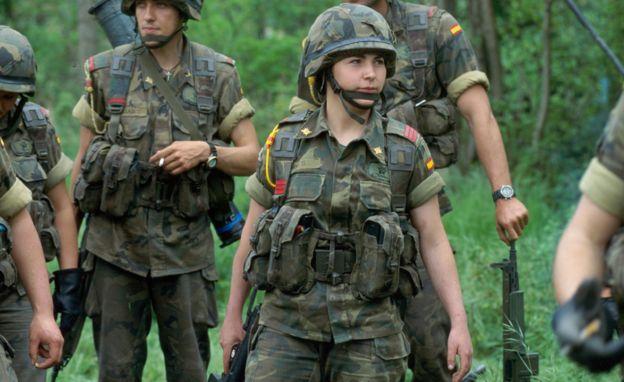 Spanish Nato unit on exercise,