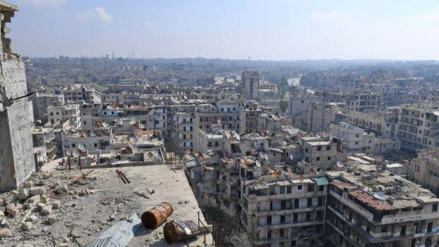 Halep'te yıkım (23 Şubat 2018)