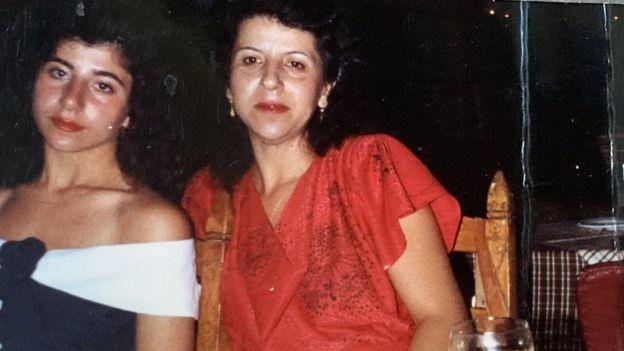 Xenia and Mum reunited in 1987