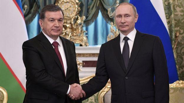 Президент Мирзиёев ва Президент Путин Кремлда