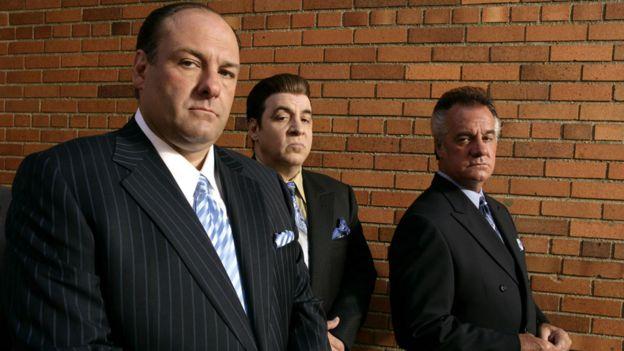 James Gandolfini, Steven Van Zandt and Tony Sirico in The Sopranos