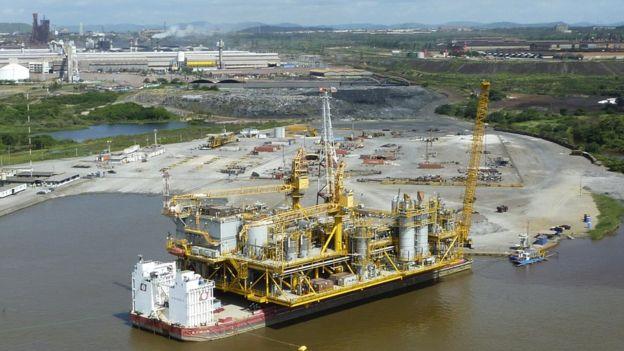 Plataforma petrolera de PDVSA en Orinoco