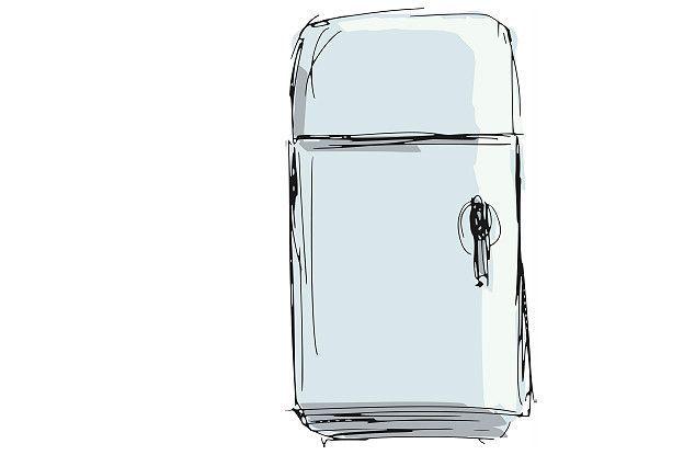 Uma ilustração de geladeira