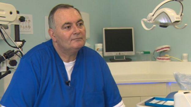 Dr Tony Kilcoyne speaking to the BBC