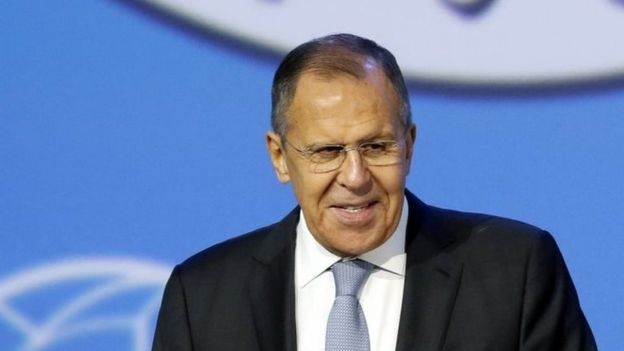 Russian Foreign Minister Sergei Lavrov at talks on Syria in Sochi, 30 January 2017