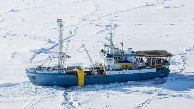 """Норвежское исследовательское судно """"Ланс"""""""