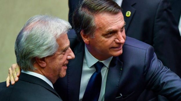 Tabaré Vázquez y Bolsonaro