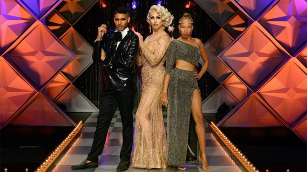 Jeffrey Bowyer-Chapman, Brooke Lynn Hytes and Stacey McKenzie