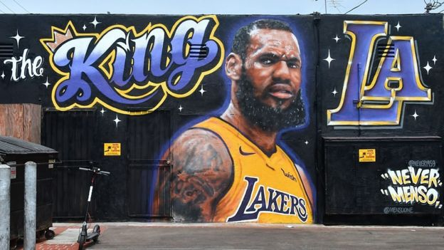 Mural de LeBron James